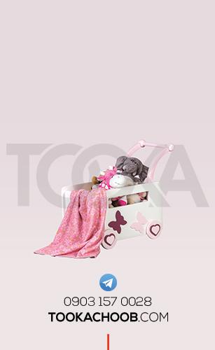 جعبه اسباب بازی سرویس خواب نوزاد مدل پرنسس توکا چوب - توکا وود