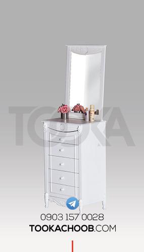 آینه دراور سرویس خواب نوجوان مدل دریم توکا چوب - توکا وود