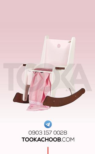 صندلی راکر سرویس خواب دومنظوره مدل الما توکا چوب - توکا وود