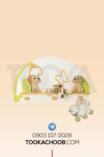 شلف و جالباسی سرویس خواب دومنظوره نوزاد و نوجوان فلورا توکا چوب - توکا وود