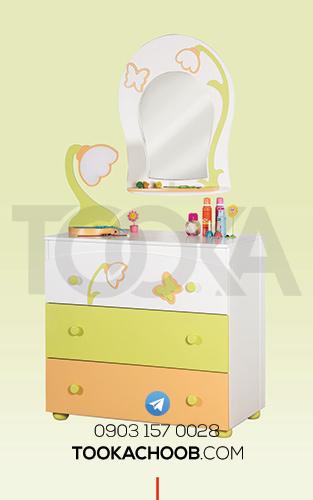 آینه دراور سرویس خواب نوزاد مدل فلورا توکاچوب - توکاوود