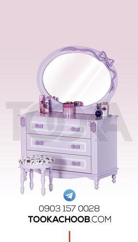 آینه دراور سرویس خواب نوجوان مدل پاپیون توکا چوب - توکا وود