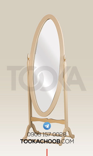 آینه ایستاده تمام قد سرویس خواب دونفره مدل رامونا توکا چوب - توکا وود
