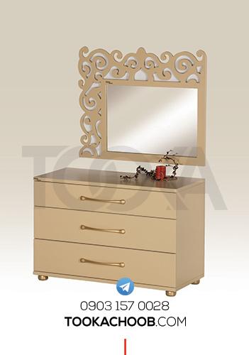 آینه دراور سرویس خواب نوجوان مدل رامونا توکا چوب - توکا وود