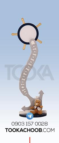 چراغ خواب و آباژور سرویس خواب نوجوان مدل کشتی توکا چوب - توکا وود