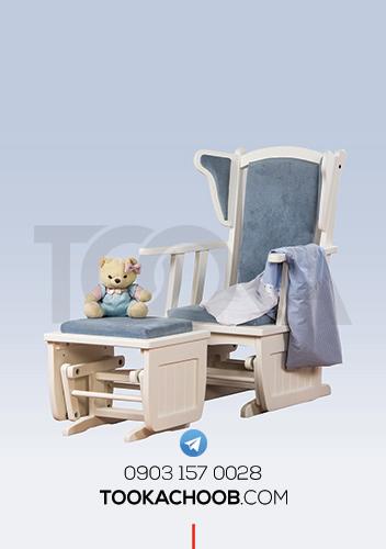 صندلی راکر سرویس خواب دومنظوره مدل تیس توکا چوب - توکا وود