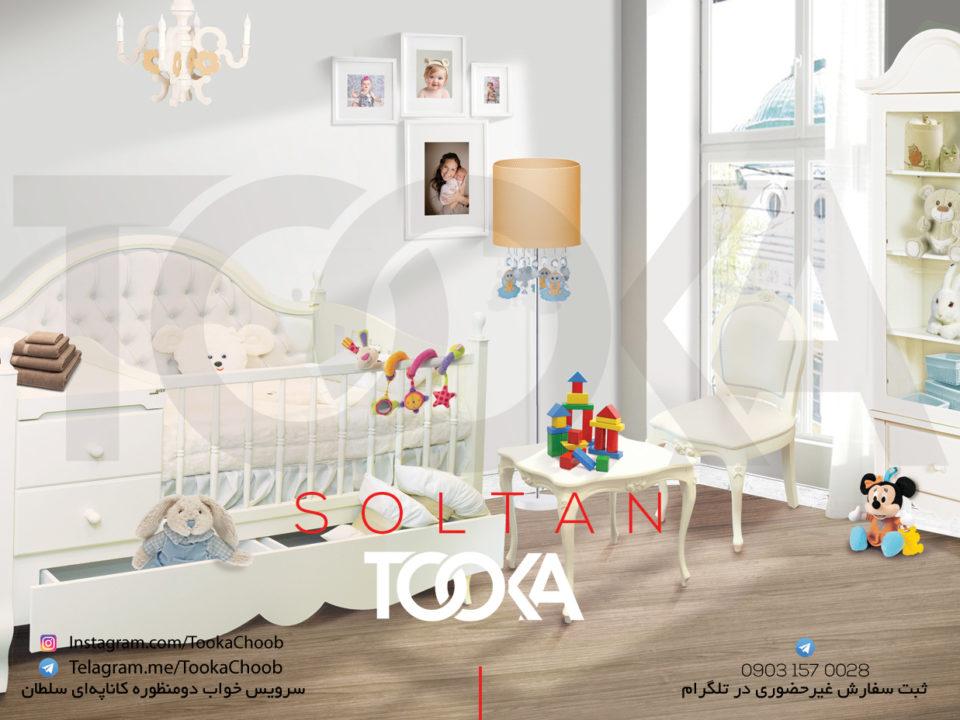 سرویس خواب دومنظوره کاناپه ای مدل سلطان توکا چوب - توکا وود