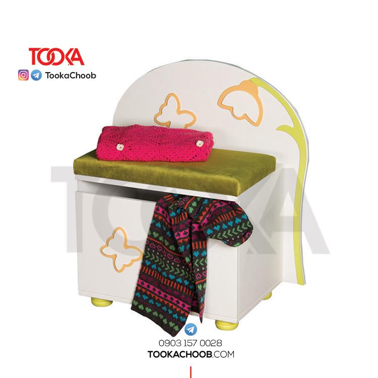 صندلی گنجه مدل فلورا توکاچوب - توکاوود