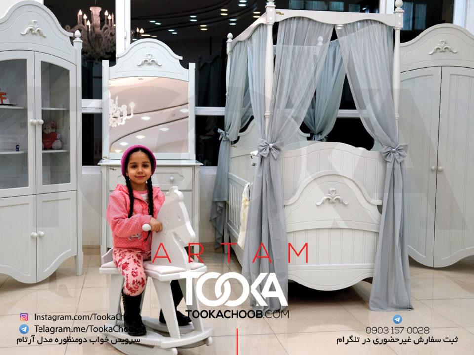 سرویس خواب دومنظوره نوزاد نوجوان مدل آرتام توکاچوب - توکا چوب